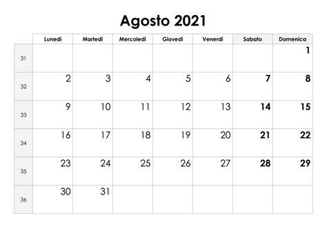 calendario agosto  calendariosu