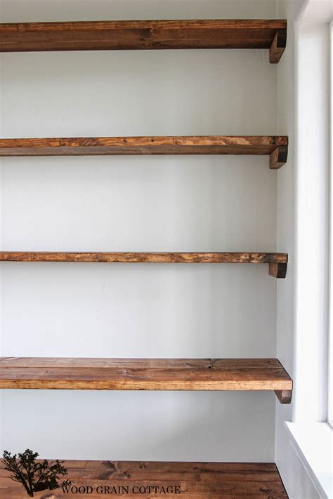 diy shelves diy dining room open shelving the wood grain cottage