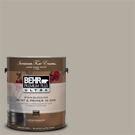 behr premium plus ultra 1 gal ul260 8 taupe interior flat enamel paint 175401 the