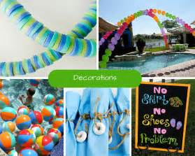 pool decoration ideas pool ideas summer ideas at birthday in