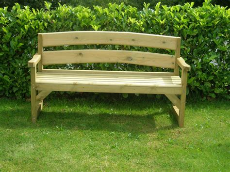 wooden bench for garden calm nuance in amusing yard with shishape plants in back