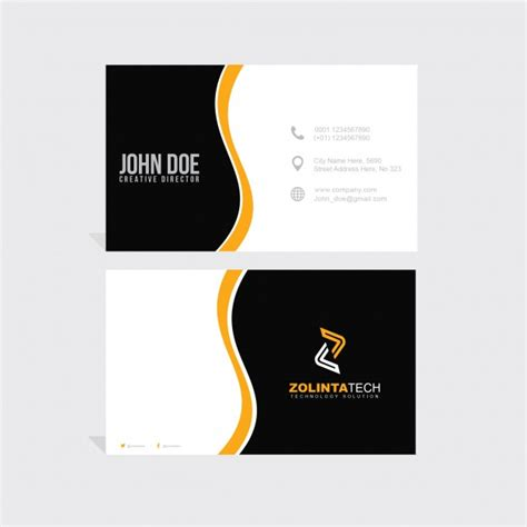 orange and black business card psd design techfameplus orange and black business card psd file free download