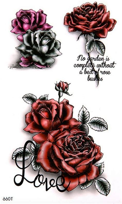 temporary rose tattoos jinx temporary butterfly tattoos