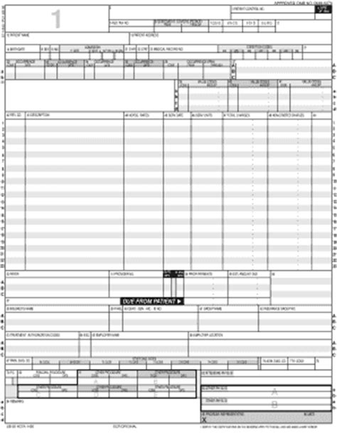 Image Of Ub 92 Fill Printable Fillable Blank Pdffiller Ub 92 Fill Printable Fillable Blank Pdffiller