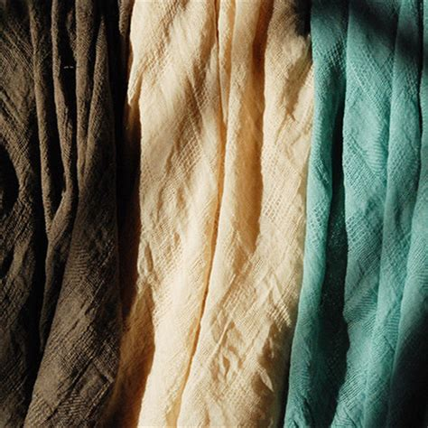 Katun Linen Impor New Cotton Linen by meter stripes linen crepe fabric crinkled cotton material dyed linen cotton fabric for