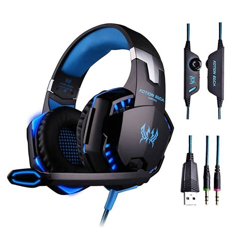 Kotion Each G2000 Gaming Headset Bass With Led Light Earphone Original Kotion Each G2000 Gaming Headset Bass
