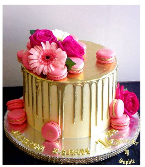 Indian Home Decorating Ideas by Gold Drip Cake Cakecentral Com