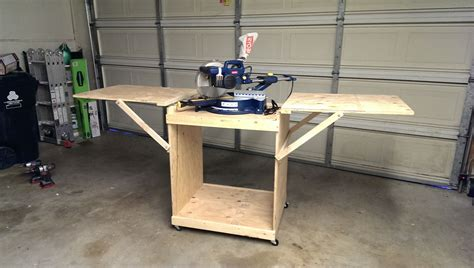 miter saw table ideas miter saw cart do it yourself home projects from