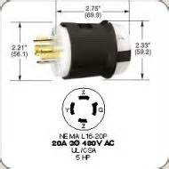 hbl2431 twist lock 20 amp 480 volts 3 phase 3 pole 4 wire grounded cord diameter 0 595 quot 0