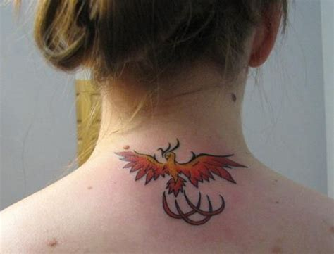 Phoenix Tattoo Neck | small phoenix tattoos for women neck tattoo phoenix
