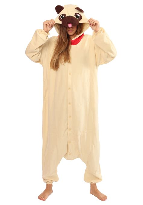 pug pajamas for adults pug kigurumi pajama costume