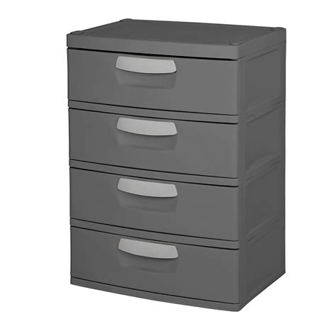 sterilite storage drawers black upc 073149017437 sterilite 4 drawer heavy duty gray