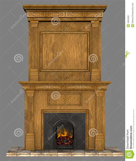 Fireplace Render by Fireplace Stock Illustration Image 48566960