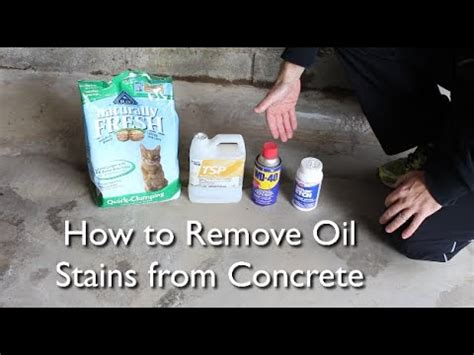 How to Remove an Oil Stain from Concrete    by Home Repair