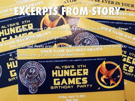 printable hunger games birthday invitations hunger games by levar black