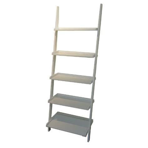ladder bookcases mintra white finish 5 tier ladder book