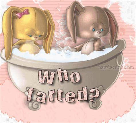 farting in bathroom who farted rabbits in bath tub funny graphics for