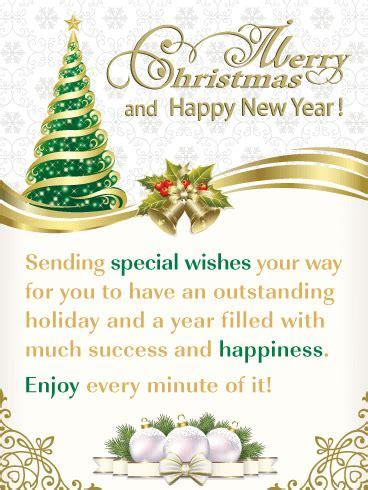 elegant holiday  merry christmas  happy  year card birthday greeting cards