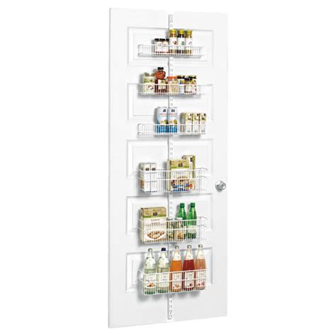 white elfa utility pantry door wall rack the container