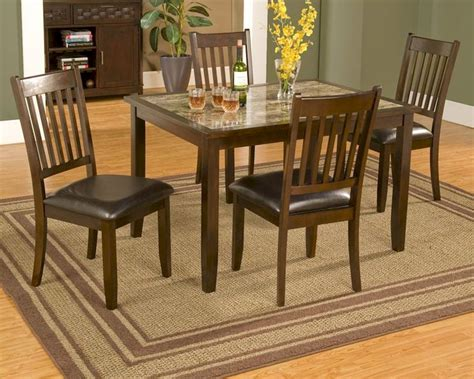 Table Capitola alpine 5 dinette set w marble top table capitola al553