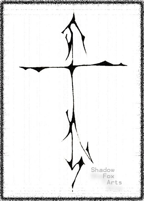 shadow cross tattoo designs for arms tribal designs for