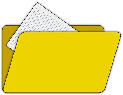 free clip files folder with file icon clip at clker vector clip