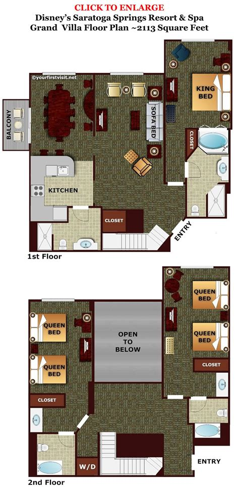 saratoga springs grand villa floor plan review disney s saratoga springs resort spa the walt