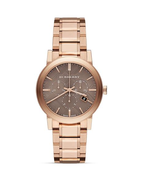 burberry goldtone chronograph bracelet 38mm in