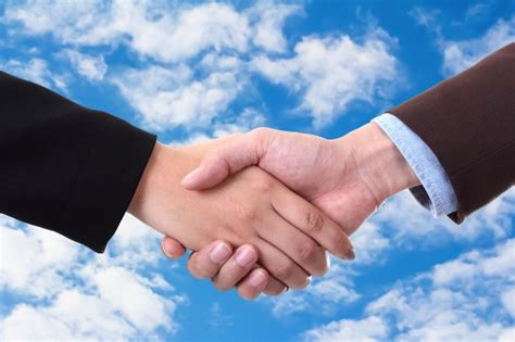 free images handshake with sky photo free
