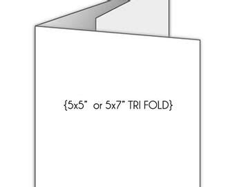 tri fold birthday card template 5x5 trifold card etsy