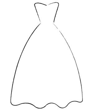 wedding dress template pin wedding dress outline clip image search results on