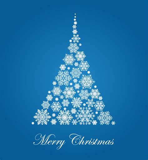 christmas tree with snowflakes vector illustration free