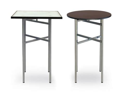 folding cocktail tables table with metal frame recreational area idfdesign