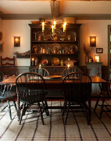 primitive dining room furniture from early american country interiors by tim tanner