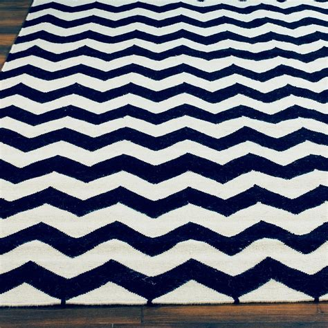 Chevron Navy Rug by Chevron Dhurrie Rug Navy Blue Colors And Dhurrie Rugs