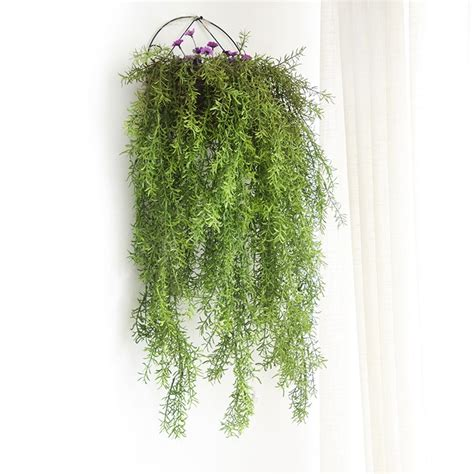 indoor  forks artificial wall hanging pine needles plant