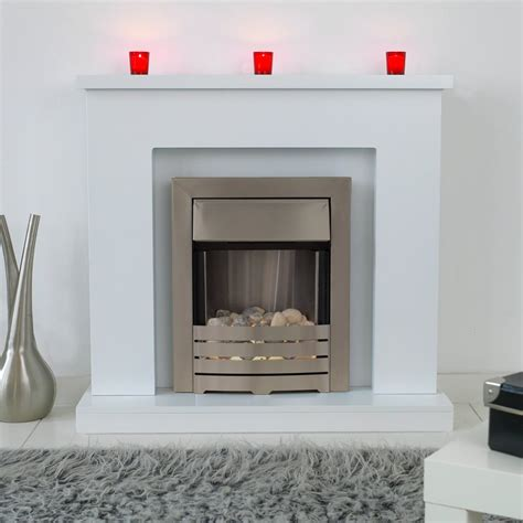 White Fireplace Suite by Adam Lomond Fireplace Suite In White With Helios