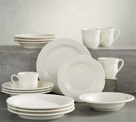pottery barn china emma 16 piece dinnerware set pottery barn