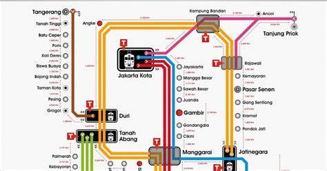 peta rute kereta rel listrik krl commuter