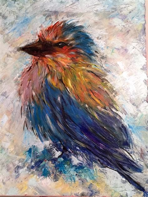 acrylic painting on canvas birds quot lilac breasted roller quot bird acrylics goss
