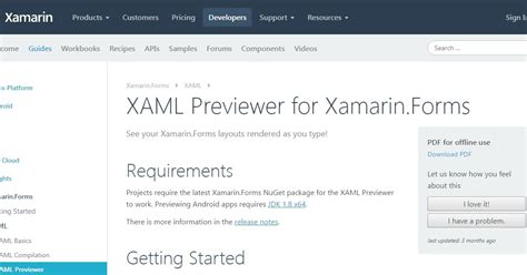 xamarin forms html xamarin forms xaml previewer in visual studio 2017