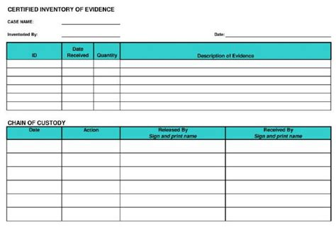 Custody Search Evidence Custody Form Search Results Dunia Photo