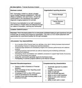business analyst documents templates 11 business analyst description templates free