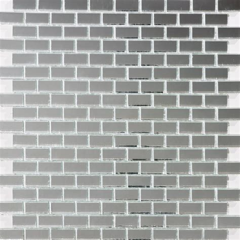 glass tile 5 8 inch silver mirror glass tile