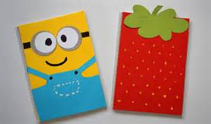 diy notebook decoration diy notebook covers minions strawberry back to school