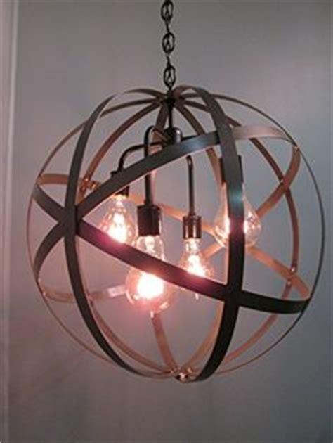 Black Orb Light Fixture Industrial Wine Barrel Ring Chandelier 18 Orb By