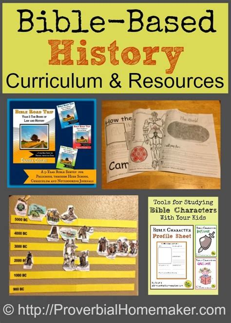 bible based history curriculum and resources