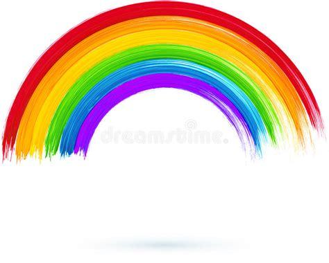 clipart arcobaleno arcobaleno dipinto acrilico illustrazione di vettore