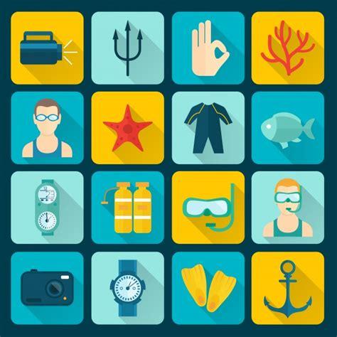 dive gratis collezione di icone di diving scaricare vettori gratis