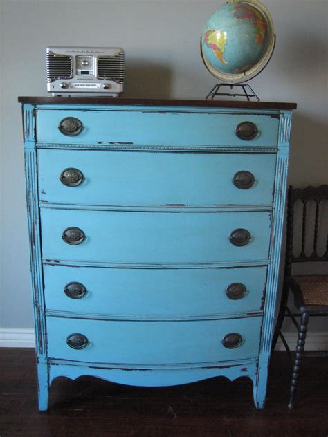 Antique Blue Dresser by European Paint Finishes Two Antique Dressers